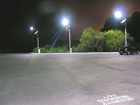 solar led parking lot lights flickr photo