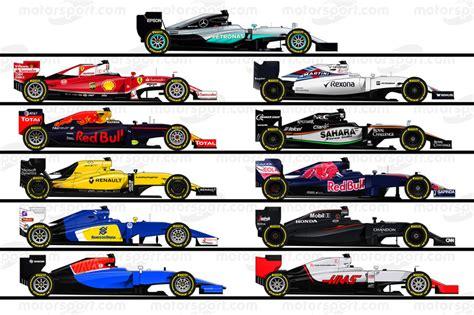 F1 2016 wagens op 2016 F1 auto illustraties - Formule 1 foto's