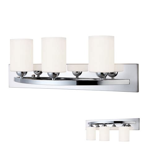 chrome  bulb bath vanity light bar fixture interior