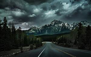 Wallpaper, 3840x2400, Px, Canada, Clouds, Dark, Forest, Hill, Landscape, Lines, Mountain, Nature