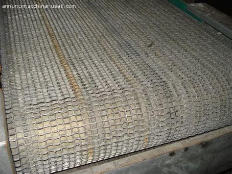 tappeto usato nastro trasportatore con tappeto metallico usato treviso