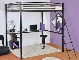 Lit Mezzanine Double : lit mezzanine 2 places pas cher vente lits deux personnes ~ Premium-room.com Idées de Décoration