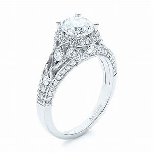 vintage inspired diamond halo engagement ring 103058 With vintage inspired wedding ring