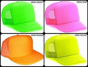 Neon Trucker Mesh Hat Cap Snap Back Baseball Plain Orange
