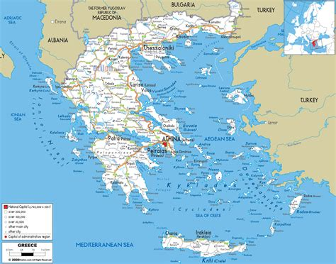 maps  greece greece detailed map  english tourist