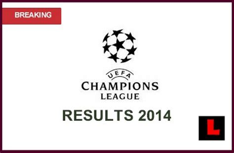 uefa champions league results  deliver early scoring today