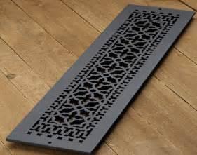 Decorative Air Return Grates 6x30 black aluminum renaissance cold air return vent