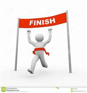 Running Finish Line Clipart