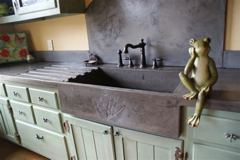 how to make a cement sink garden sink eclectic kitchen charlotte by bdwg