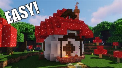 build  mushroom starter house building tutorial   cute minecraft houses