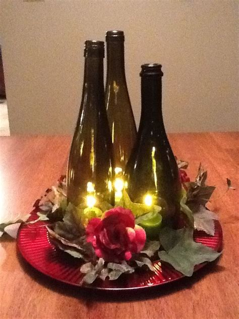 Best 25 Bottle Centerpieces Ideas On Pinterest Wine
