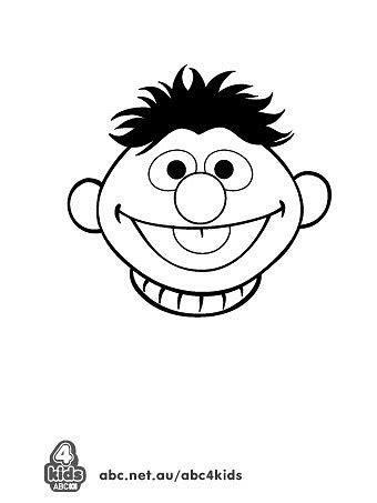 Sesame Street Bert Face Template