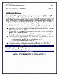 sample resume december 2014 With finance resume examples