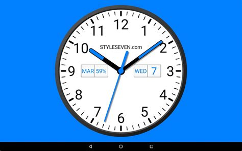 Analog Clock Widget Plus-7 For Android