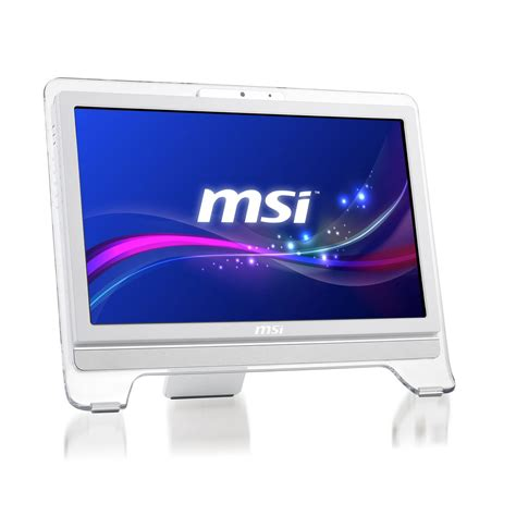pc de bureau sans os msi wind top ae2051 056xeu blanc pc de bureau msi sur