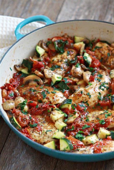 italian chicken mushroom  zucchini skillet
