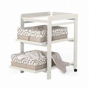 Petite Table A Langer : table langer comfort avec roues blanc quax pour chambre enfant les enfants du design ~ Teatrodelosmanantiales.com Idées de Décoration