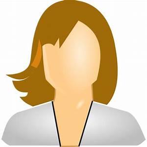 User Icon Female, White Clip Art at Clker.com - vector ...