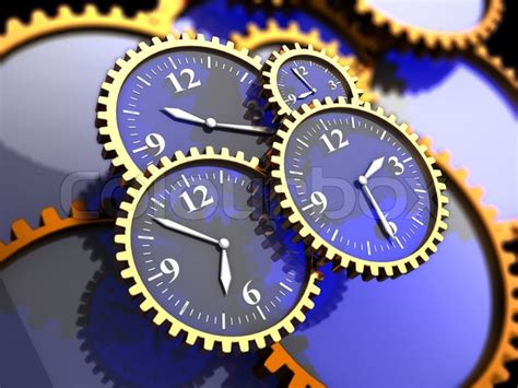 illustration  clock gears background time concept