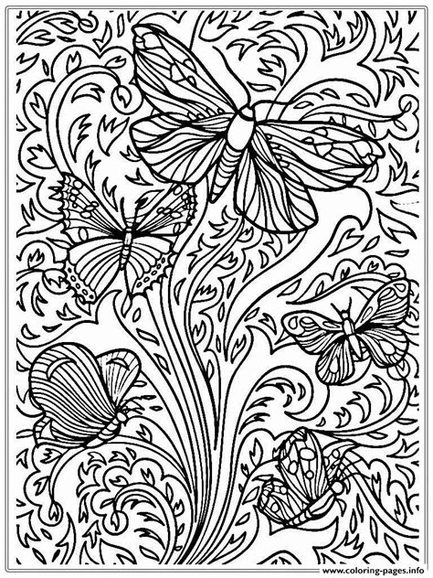 coloring pages print  printable adult butterfly sheet