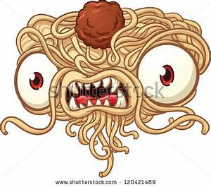 Spaghetti Monster Vector Clip Art Illustration Stock ...
