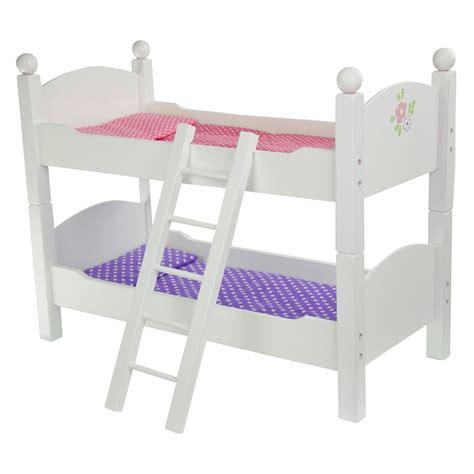 teamson kids  princess doll double bunk bed baby