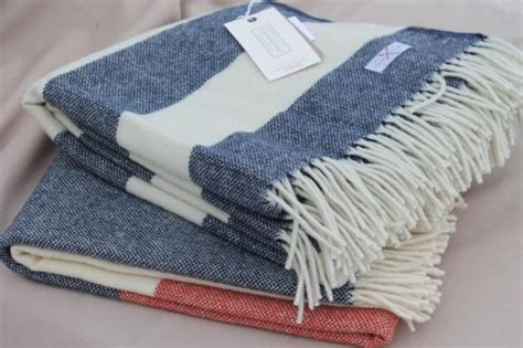 Faribault Wool Camp Blanket Throws, Fringed Wool Blankets In Cream White, Red & Blue What Is A Blanket Position Bond Black Faux Fur King Insurance Policy How To Make Weighted No Sew The Meaning Of Bankers Child Size Antique American Indian Blankets It Ok Use Heated When Pregnant