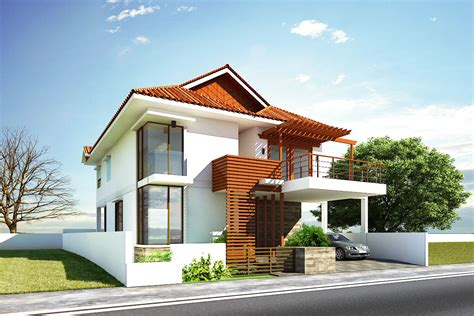 New home designs latest : Modern house exterior front