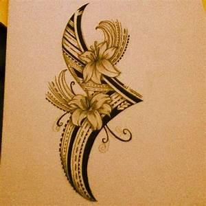 Polynesian Flower Tribal. | Polynesian Tribal Art ...
