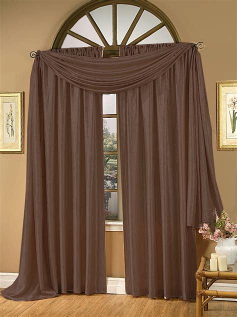 whisper crushed satin curtain panel chocolate renaissance