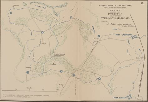 siege weldom sketch showing the position of the weldon railroad