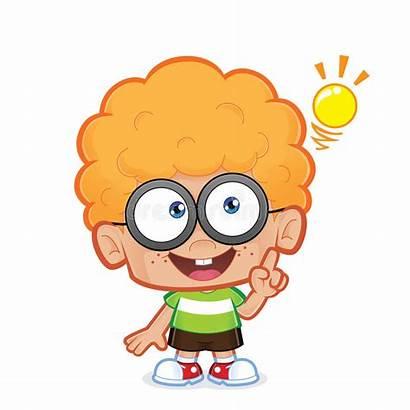 Idea Boy Creative Clipart Cartoon Nerd Illustration