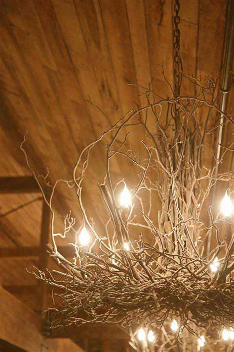 diy ideas  rustic tree branch chandeliers world
