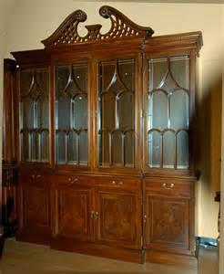 large mahogany breakfront china cabinet ebay