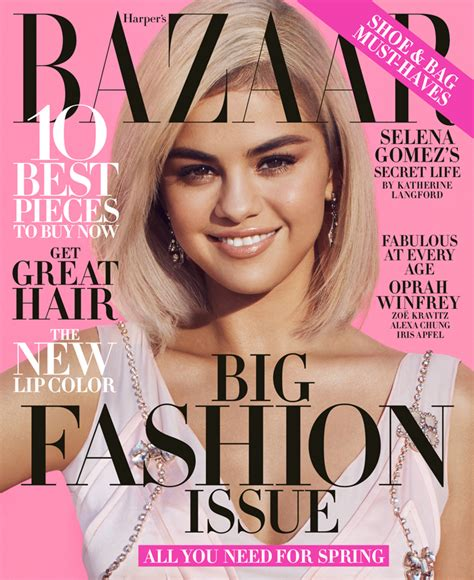 Selena Gomez Covers Harper's Bazaar March's Issue