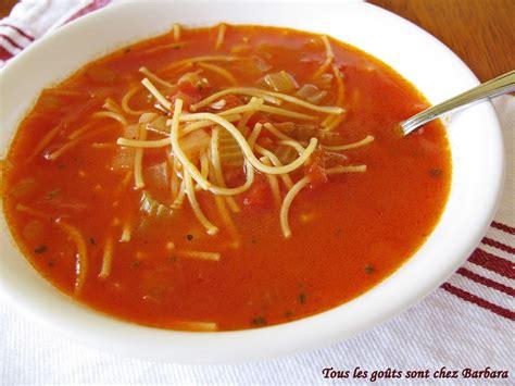 tous les go 251 ts sont chez barbara soupe tomates