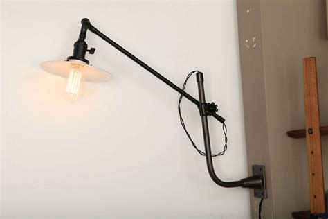 vintage oc white industrial wall mount swing arm l at 1stdibs