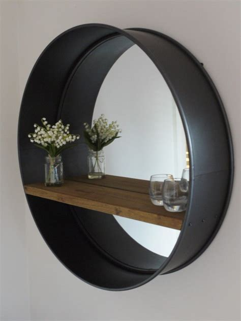 Circular Bathroom Mirrors by Retro Industrial Vintage Style Large Wall Mirror