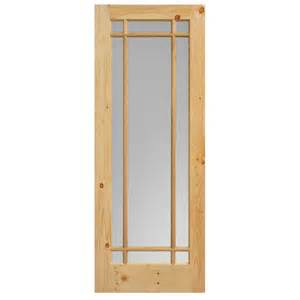 home depot glass doors interior steves sons 24 in x 84 in modern lite glass stained pine interior barn door with