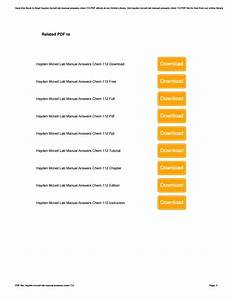Hayden Mcneil Lab Manual Answers Chem 112 By