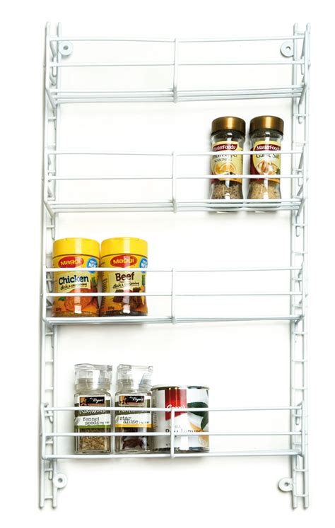 Adjustable Spice Rack by Spice Rack 4 Tier Adjustable White From Storage Box