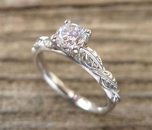 leaf engagement ring engagement ring antique engagement by With leaf wedding ring