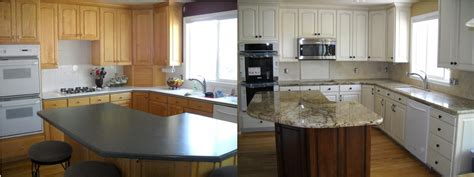 refinished cabinets before and after telisa s cabinet refinishing 155