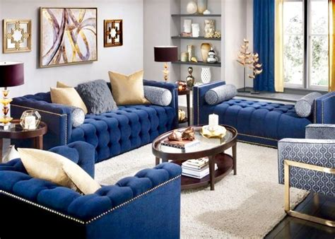 beautiful navy blue and white living room decor blue
