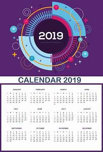Ms Office Calendar Template 2020 Large Wall Calendar 2019 Calendar Design Wall Calendar