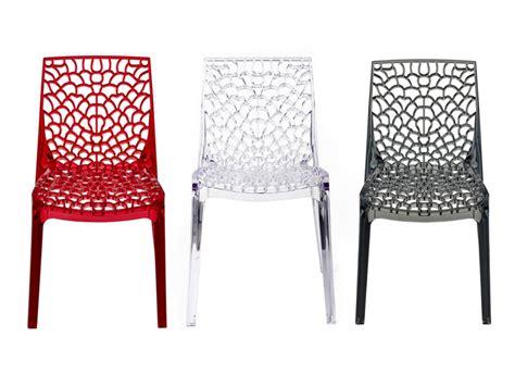 chaises polycarbonate lot de 2 ou 6 chaises diademe polycarbonate 3 coloris