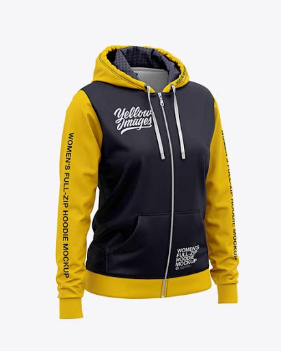 Cuffed soccer cleat mockup (half side view) Womens Full-Zip Hoodie Front Half Side View Jersey Mockup ...