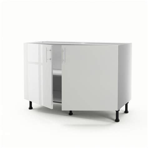 meuble de cuisine suspendu meuble de cuisine sous évier blanc 2 portes h 70 x l