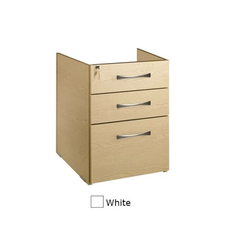 white pedestal desk with drawers sunflower medical white three drawer fixed under desk