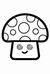 Mushroom Draw Coloring Drawing Glitter Step Mush Youtu Afkomstig sketch template